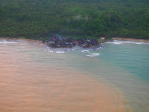 Some of the communities choose to leave on land bordering the Darien Gap. No roads go there