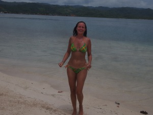 Remember the story about the tiny bikini back in Costa Rica. Here it is!!