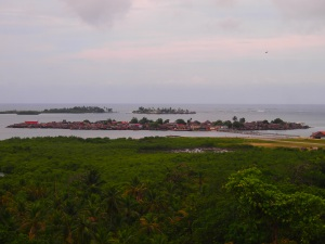 View of the Kuna Community and Yandup Island from the cemetery