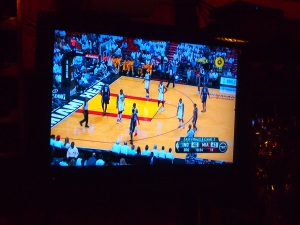 Miami vs Indiana at the local bar