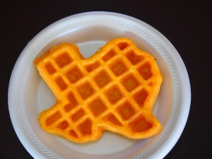 Texan waffle for breakfast